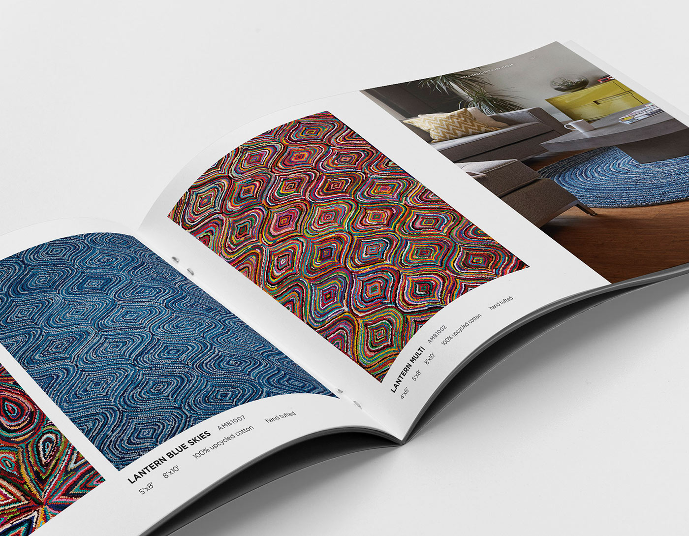 Sample spread from Anji Mountain product catalog