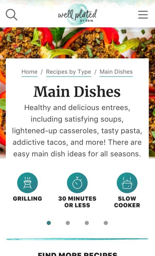 Well Plated category page design